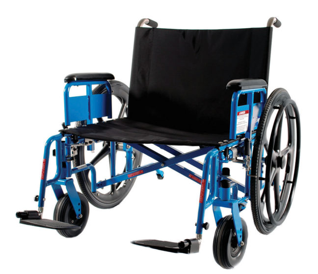 MR Safe Bariatric Wheelchairs back