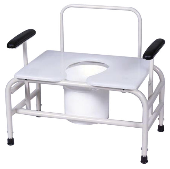 Bariatric Commodes powder coat steel frame